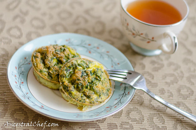 paleo kale and chives egg muffins - full recipe here: https://paleoflourish.com/paleo-kale-and-chives-egg-muffins/