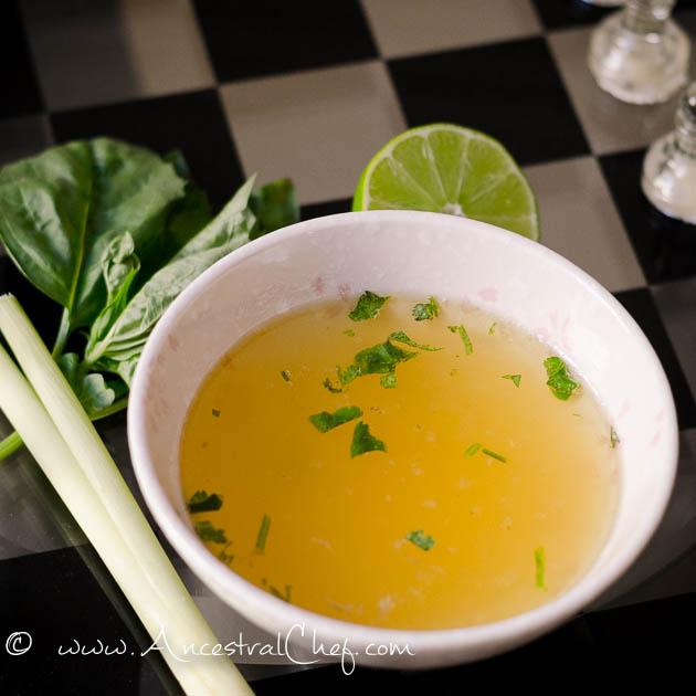 Homemade Thai Chicken Soup
