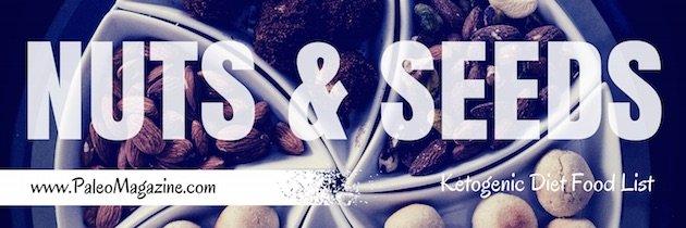 ketogenic diet food list - nuts seeds