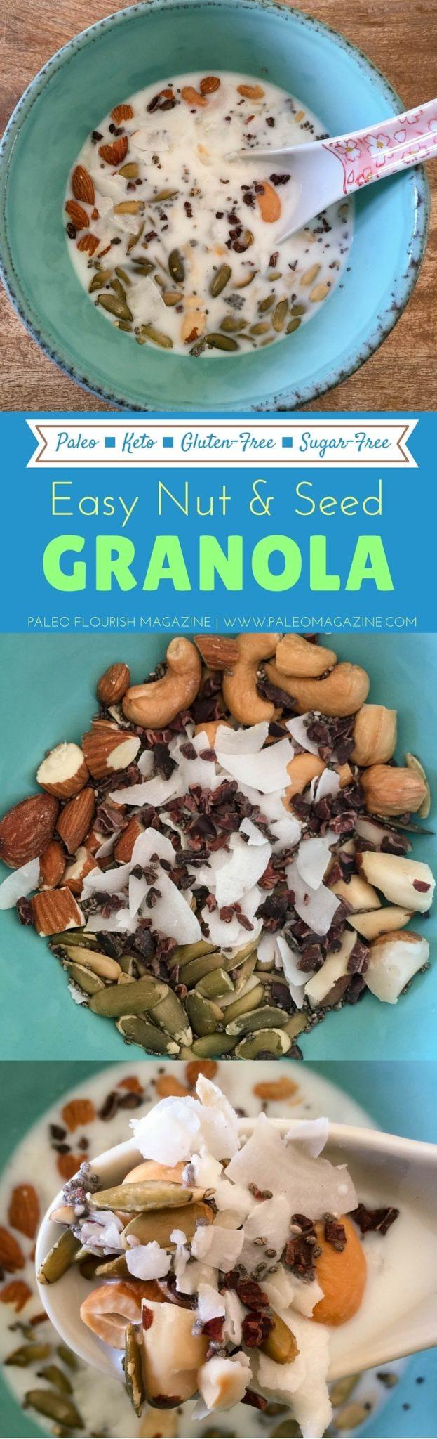 Easy Nut & Seed Keto Granola Recipe (Paleo, Sugar-Free)