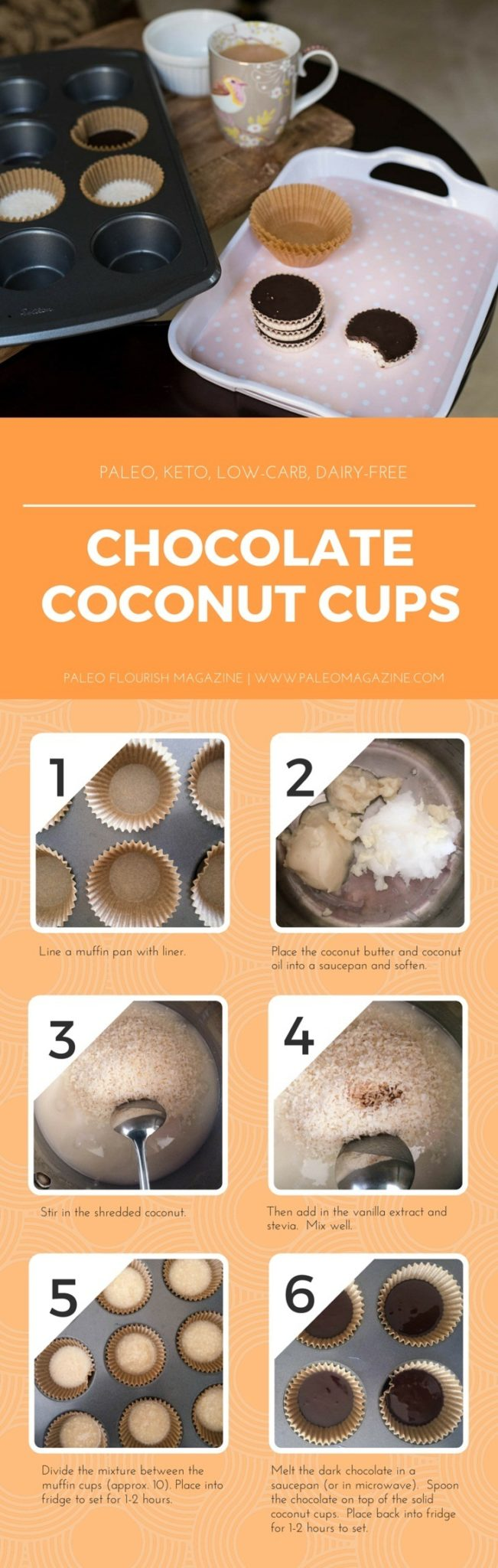 Chocolate Coconut Cups Recipe [Paleo, Keto, Low-Carb, Dairy-Free]