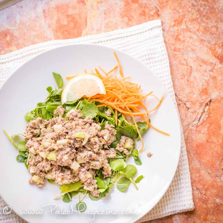 Mustard Sardines Salad Recipe #paleo #ketogenic #recipe mustard-sardines-salad-recipe