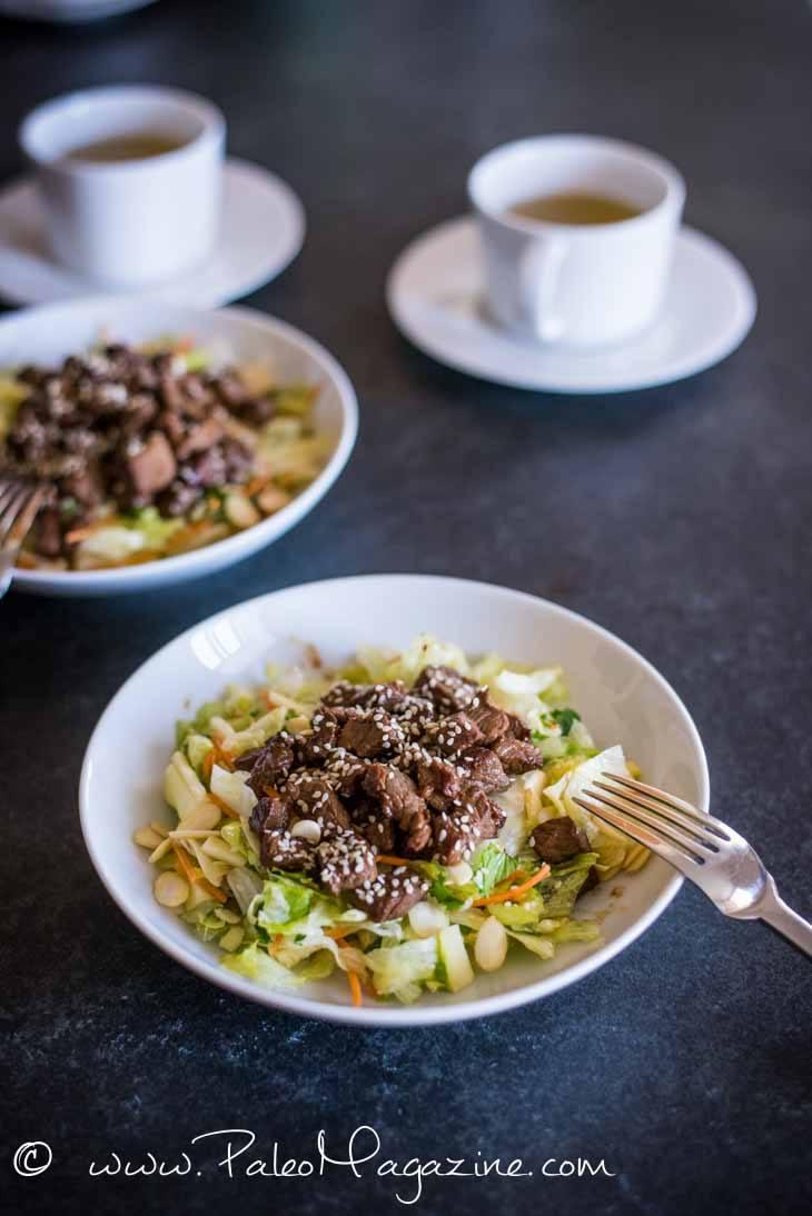 Asian Sesame Beef Salad Recipe [Paleo, Keto] #paleo #keto #recipes - https://paleoflourish.com/asian-sesame-beef-salad-recipe-paleo-keto