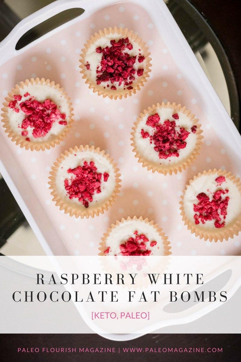 Raspberry White Chocolate Fat Bombs Recipe [Paleo, Keto, Dairy-Free] #paleo #recipes #glutenfree https://ketosummit.com/keto-raspberry-white-chocolate-fat-bomb-recipe