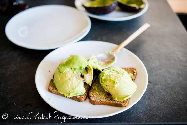 Pistachio Tomato Avocado Toast Recipe (Paleo and Keto) #paleo #keto #recipes - https://ketosummit.com/paleo-keto-avocado-toast-recipe