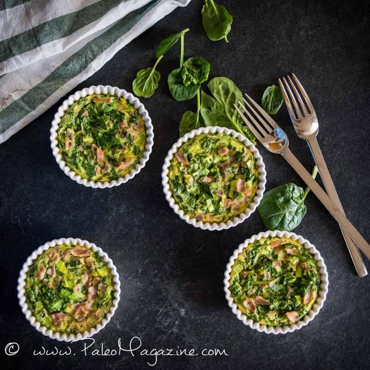 Ham and Spinach Mini Quiches [Paleo, Keto] #paleo #keto - https://ketosummit.com/ham-spinach-mini-quiche-paleo-keto