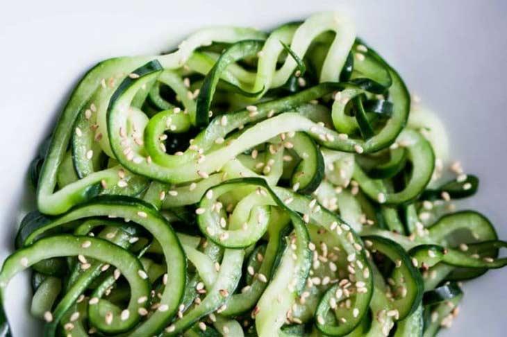 Cold Sesame Cucumber Pasta Salad