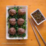 Keto Asian Meatballs Recipe with Dipping Sauce [Paleo, Dairy-Free] #paleo #recipe https://ketosummit.com/keto-asian-meatballs-recipe