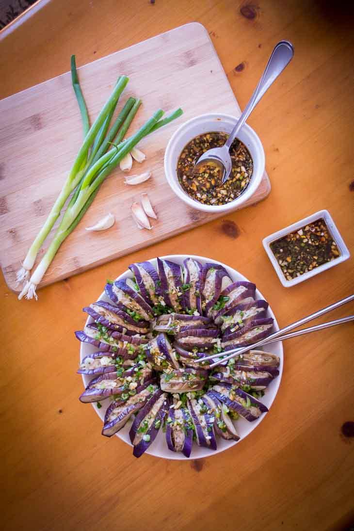 Keto Eggplant Burgers Recipe [Chinese Qiezi He] #keto https://ketosummit.com/keto-eggplant-burgers-recipe-qiezi-he