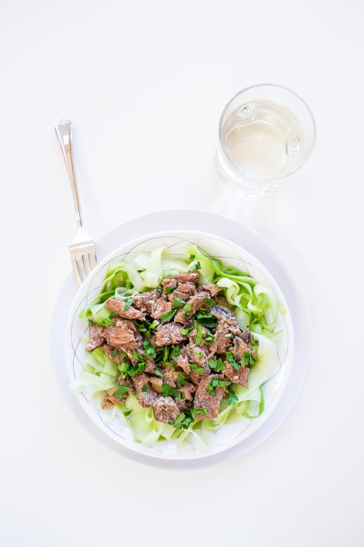 Keto crockpot beef stroganoff recipe