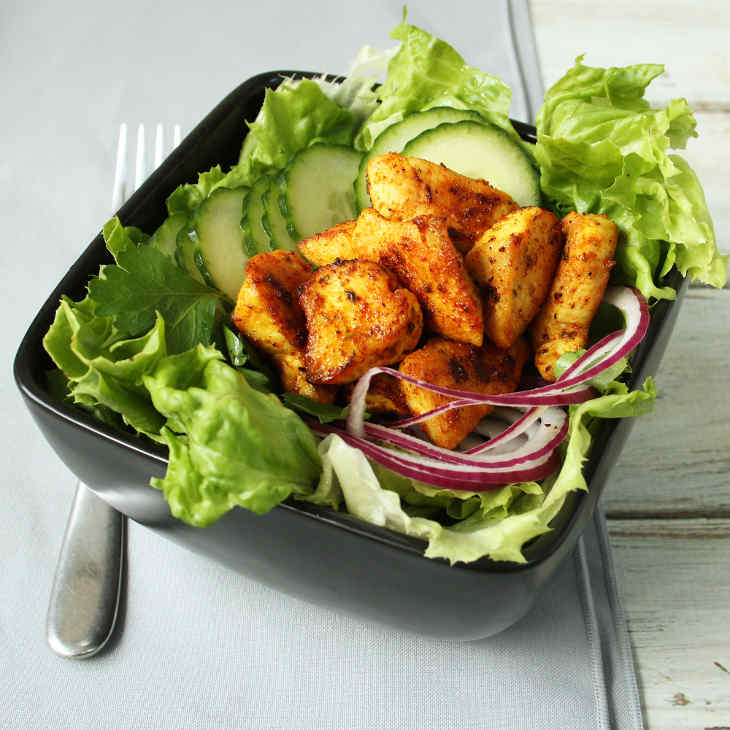Keto Chicken Shawarma Salad #keto https://ketosummit.com/Keto-chicken-shawarma-salad-recipe