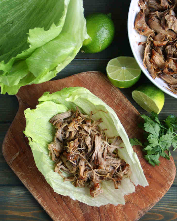 Keto Pork Carnitas with Lettuce Wraps #keto https://ketosummit.com/keto-pork-carnitas-recipe