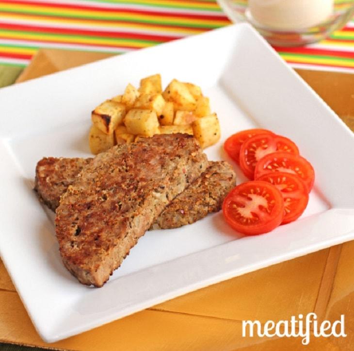 Slow cooker breakfast keto meatloaf