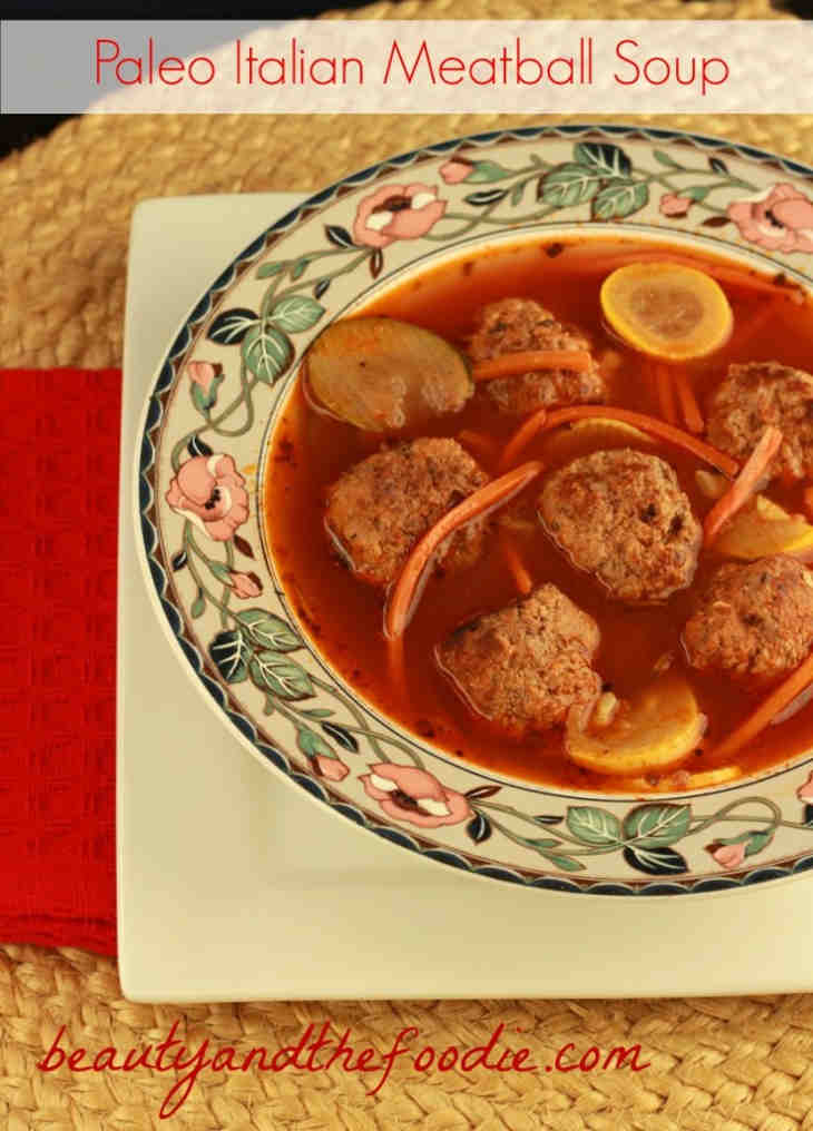 Italian keto meatball soup recipe