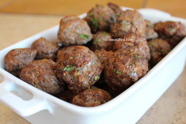 Thai flavored mini keto meatballs