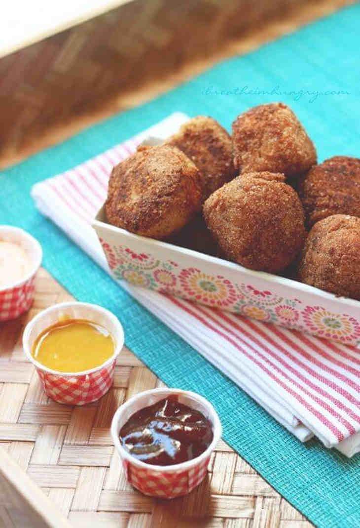 Chicken nugget style keto meatballs