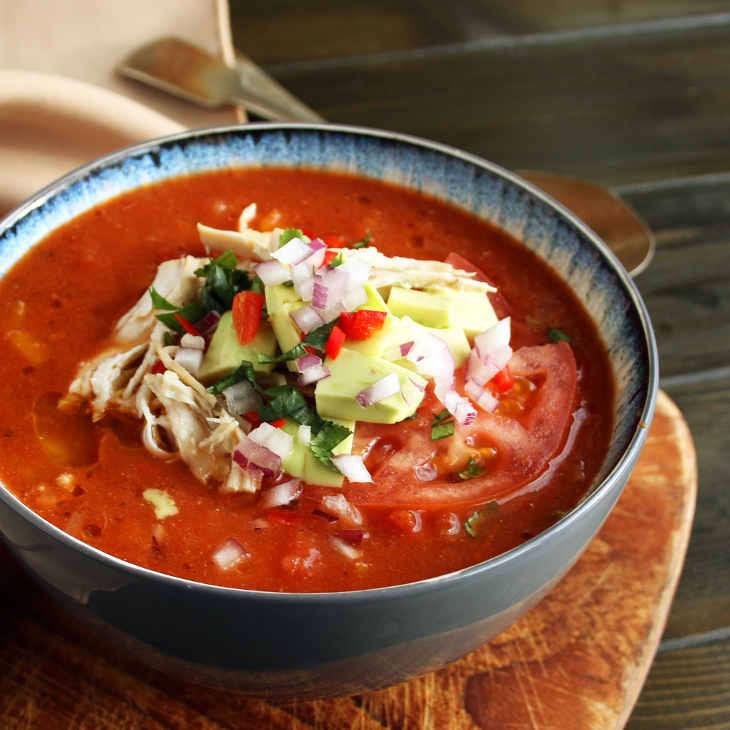 Keto Slow Cooker Chicken Enchilada Soup