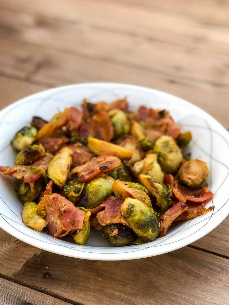 2-Ingredient Keto Bacon Brussels Sprouts Recipe #keto https://ketosummit.com/keto-bacon-brussels-sprouts-recipe
