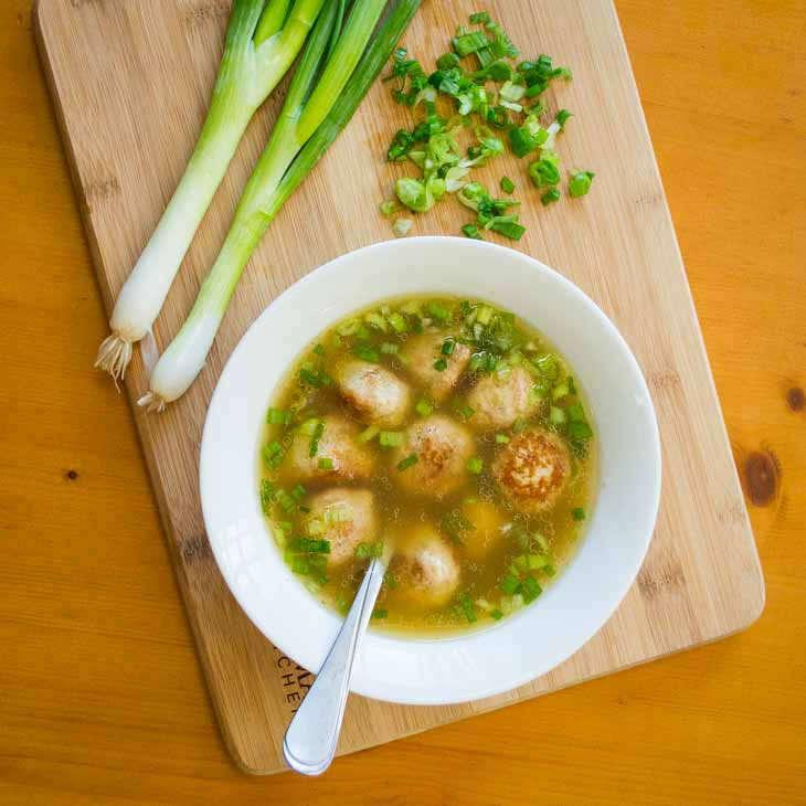 Asian Keto Chicken Meatball Soup