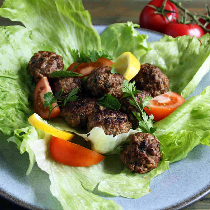 Keto Greek Meatballs Salad