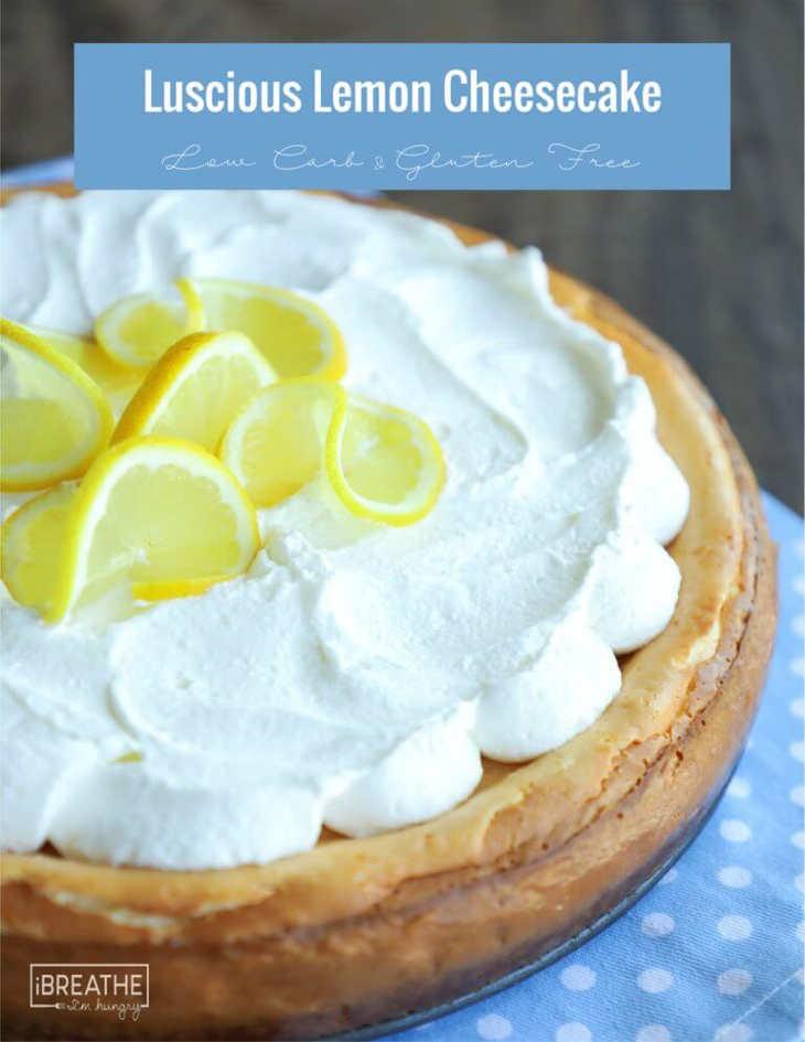 Easy lemon keto cheesecake