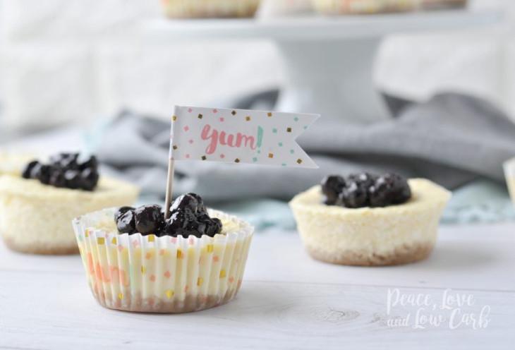 Blueberry Mini keto cheesecakes taste great