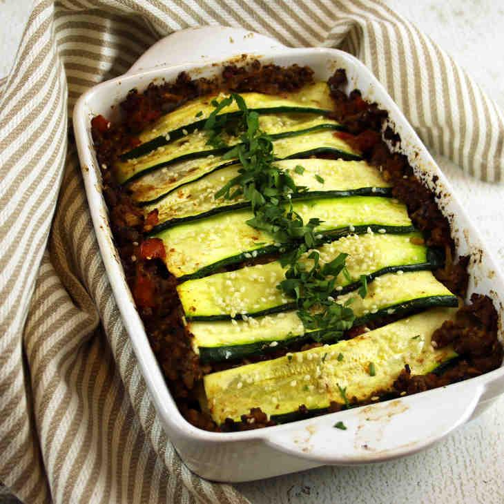 """Keto Eggplant and Zucchini """"Lasagna"""" Recipe #keto https://ketosummit.com/keto-eggplant-and-zucchini-lasagna-recipe"""