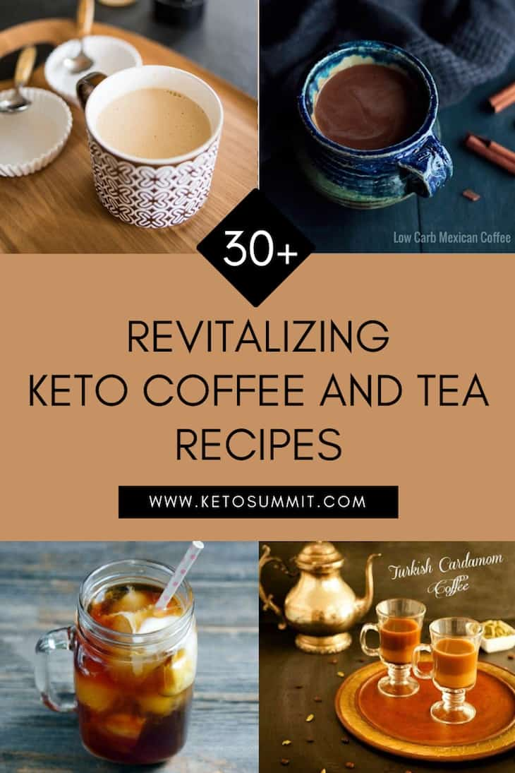 30+ Revitalizing Keto Coffee and Tea Recipes Collage https://ketosummit.com/keto-coffee-and-tea-recipes