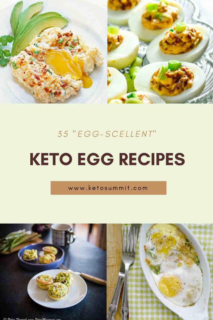 "35 ""Egg-scellent"" Keto Egg Recipes https://ketosummit.com/keto-egg-recipes"