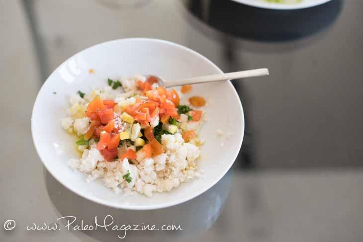 Cauliflower Tabouli (Tabbouleh) Salad Recipe