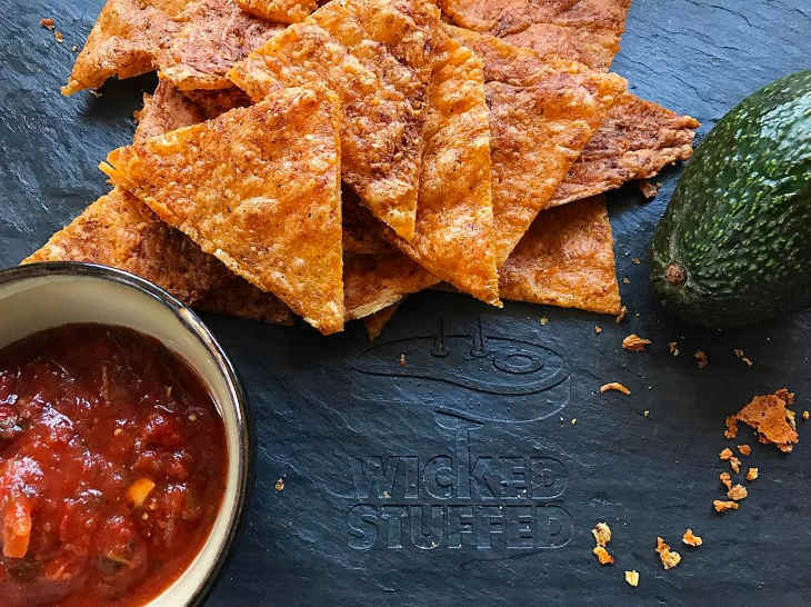 Dippable crispy keto cheese chips