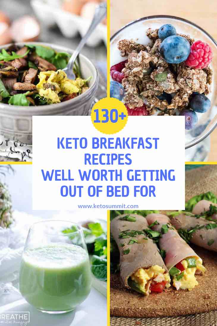 130+ Keto Breakfast Recipes Collage https://ketosummit.com/keto-breakfast-recipes