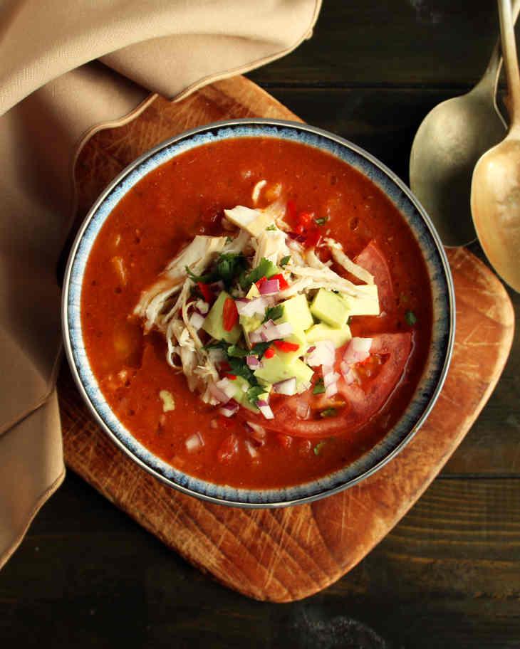Keto Slow Cooker Chicken Enchilada Soup Recipe #keto https://ketosummit.com/keto-slow-cooker-chicken-enchilada-soup-recipe