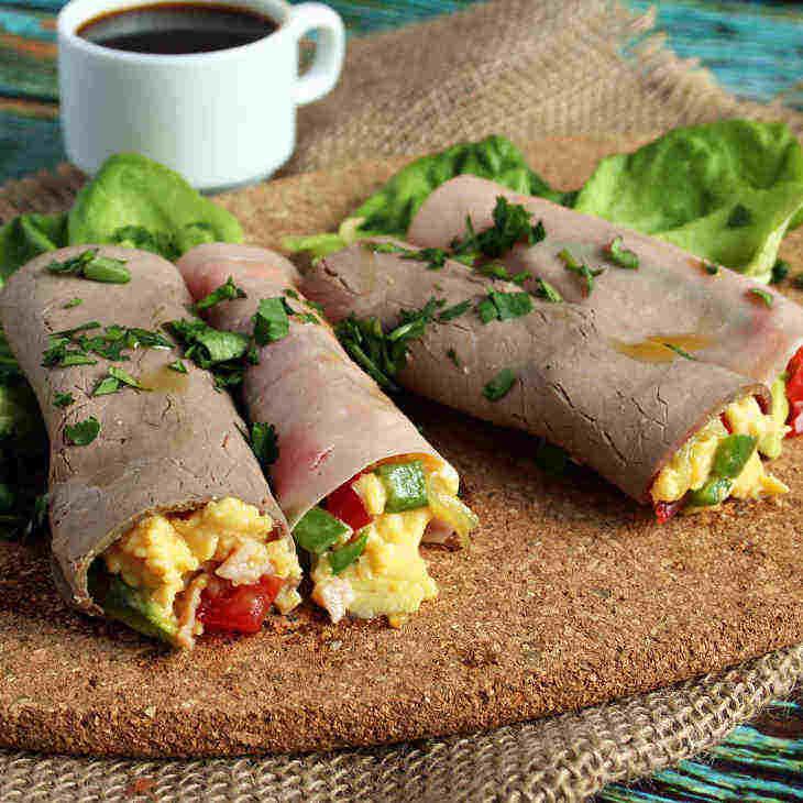 Mini Keto Breakfast Burrito Wraps