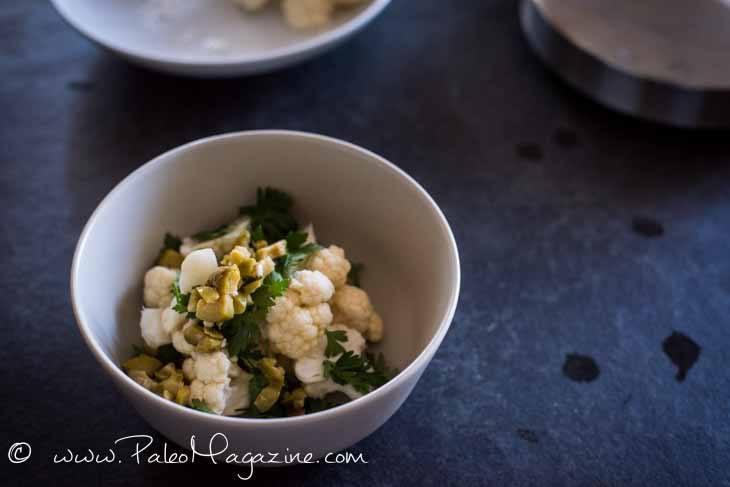 Raw Italian Cauliflower Salad Recipe