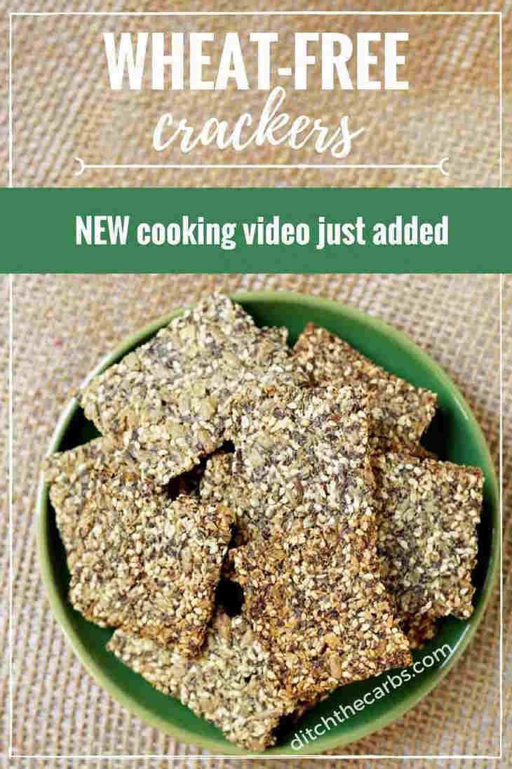 Wheat free keto chip crackers