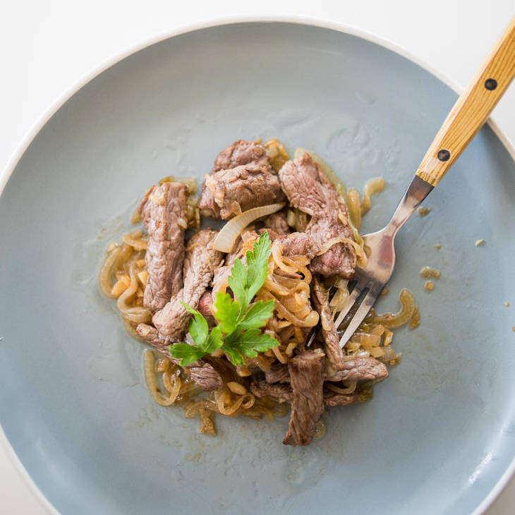 Three Ingredient Keto Steak Sauté