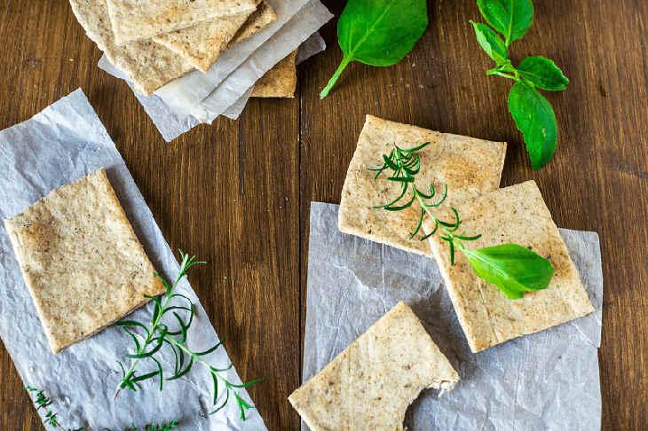 Homemade Almond Herb Cracker Recipe