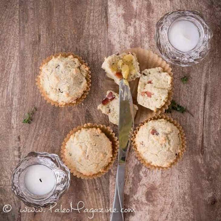Paleo Bacon Lemon Thyme Breakfast Muffins