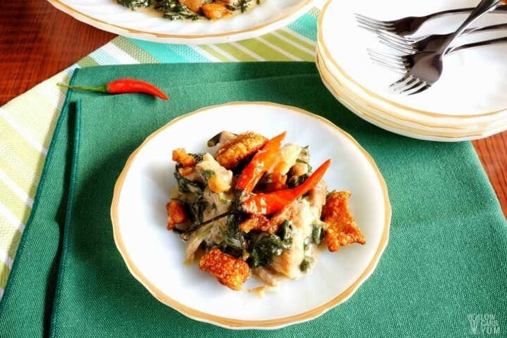 Coconut Creamed Spinach Pork Crackling Recipe