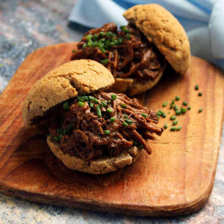 Keto Crockpot Pulled Beef Rolls