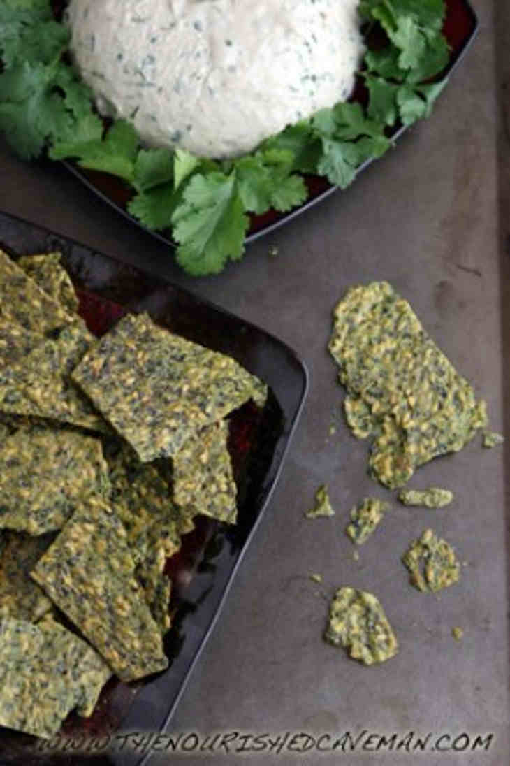 Raw Avocado and Golden Flax Crackers