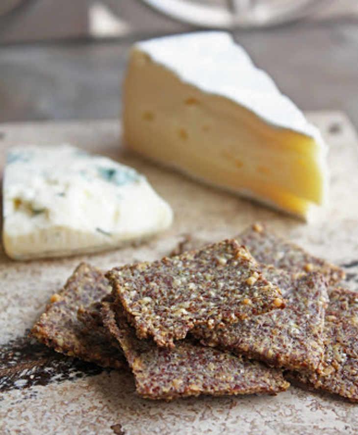 Rosemary & Sea Salt Flax Crackers