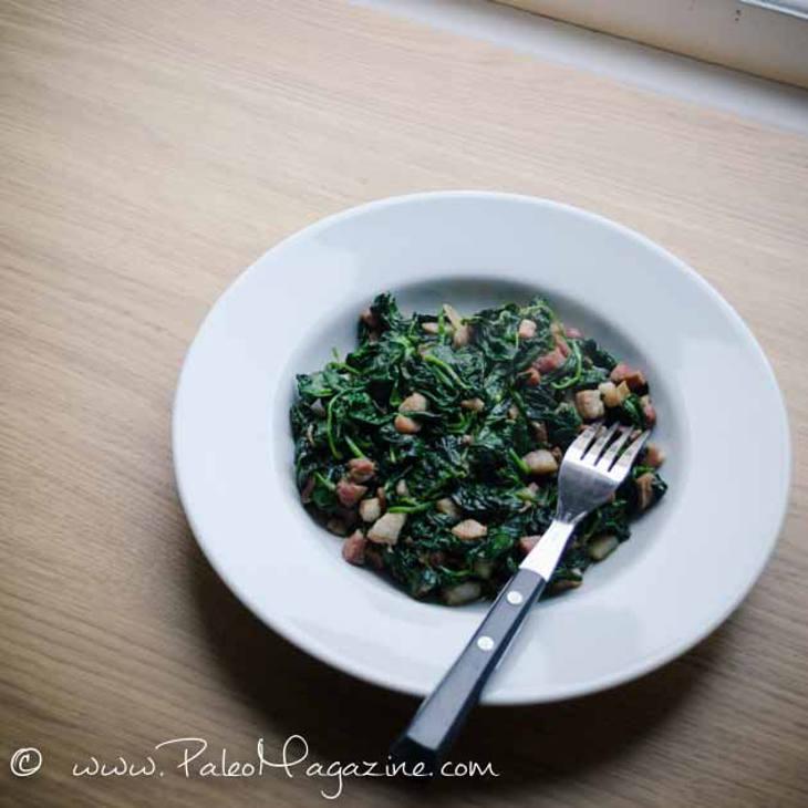 Spinach and Pancetta Saute Recipe