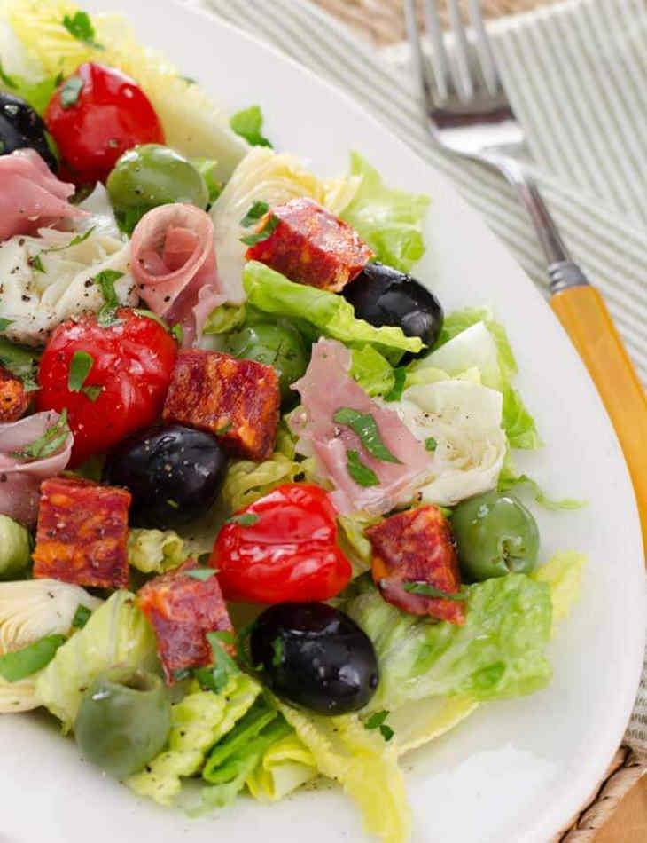 Antipasto Salad With Easy Italian Dressing