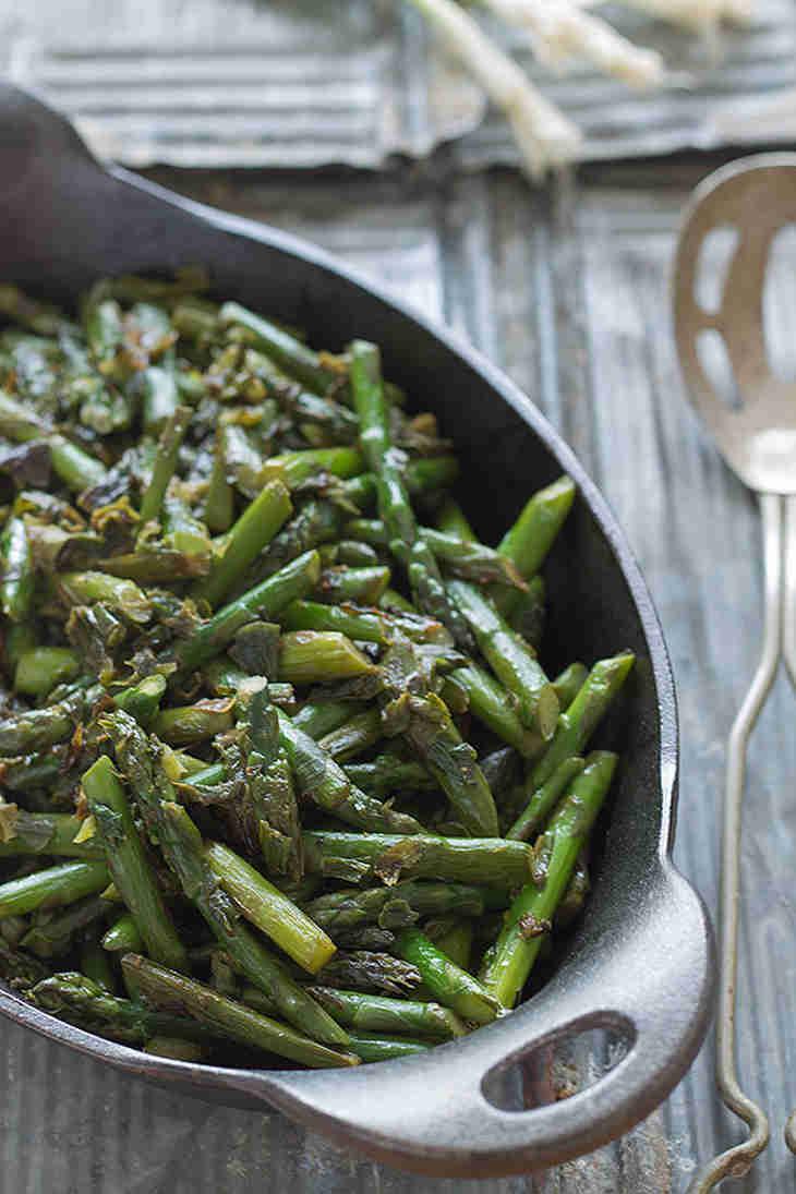 Asparagus And Caramelized Spring Onion Saute