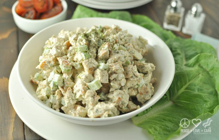 Dill Chicken Salad for Keto