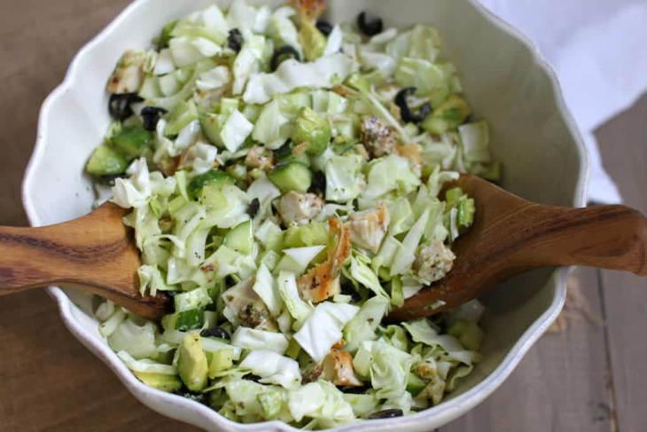 Keto Friendly Greek Chicken Avocado Salad