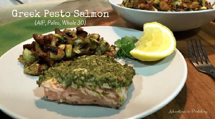 Greek Pesto Salmon