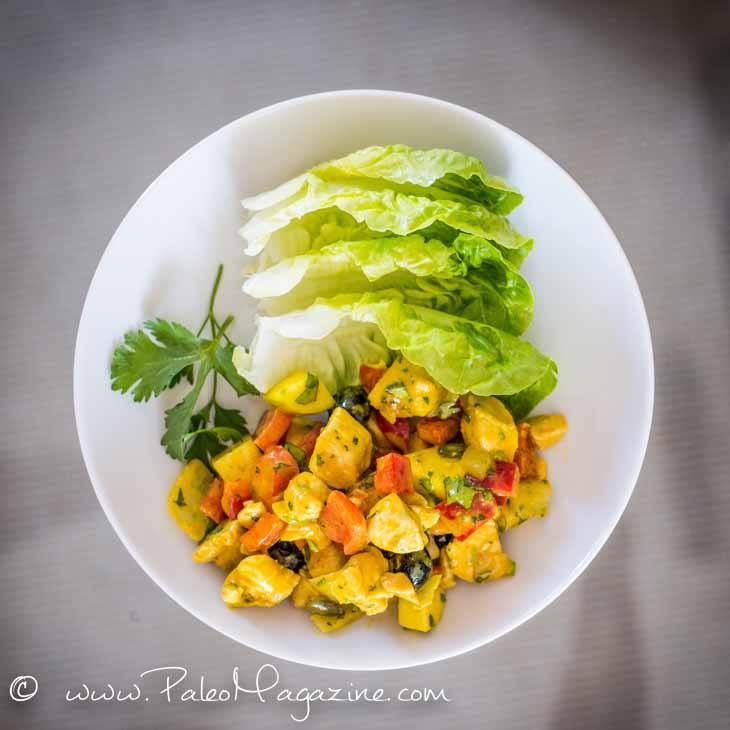 Ketogenic Curried Chicken Salad
